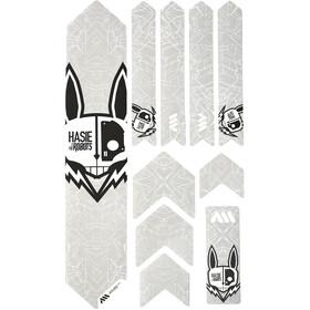 All Mountain Style Extra Kit di Protezione del Telaio 10 Pezzi, bianco/nero